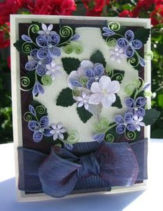 Gorgeous Card - by: Sonya, Appel Quilling Garden - qppelquilling.blogspot.com/2009/08/hydrangea