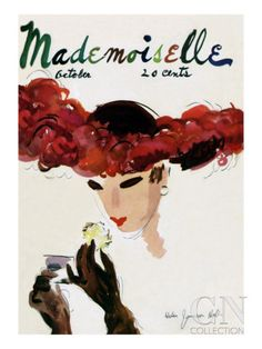 Mademoiselle Cover - October 1935 Premium Giclee Print