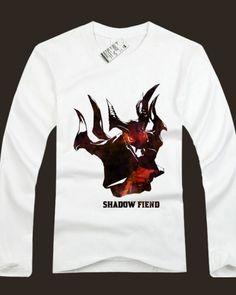 Dota 2 herói camisas de manga longa para homens Nevermore impresso-