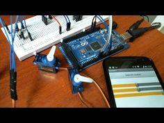 Arduino + 3 Servomotor + MobileApp + Bluetooth - YouTube