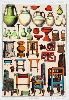 Babilonios y asirios cerámica y muebles