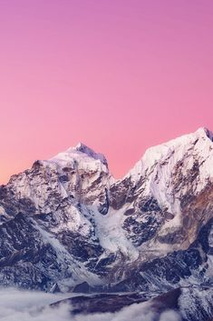 Download free HD wallpaper from above link! #pink #Skyline #mountain #tops #snow #view View Wallpaper, Iphone Wallpaper, Snowy Mountains, Free Hd Wallpapers, Pink Sky, Skyline, Link, Nature, Tops