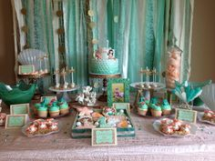 Magical Under the Sea Dessert Table | CatchMyParty.com