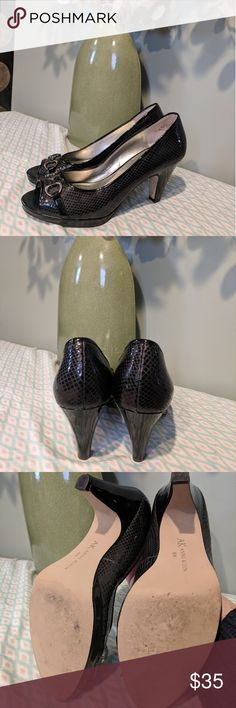 Anne Klein black heels sz 8.5m These shots are in very good used condition, please see pictures for details. Anne Klein Shoes Heels