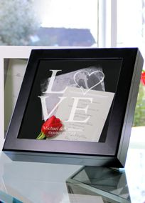 Love Collection Wedding Wishes Keepsake Shadow Box is for remembering and displaying your most treasured moments from your wedding day, the wooden structured frame is accompanied by a custom etched glass lid, velvet lining. With the ability to store everything from keepsake garters and invitations to preserved flowers, pictures and more And because of its universal appeal and cherished purpose Size: Measures 12 inches by 12 inches by 2.5 inches deep. Personalize it