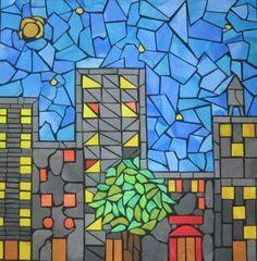 Cityscape - paper mosaic