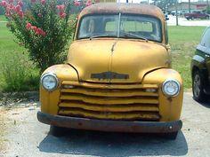 HHR's Daddy's car.  1949 Chevy suburban