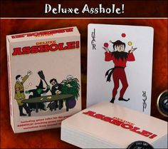 If you have ever played the incredibly entertaining game of asshole, then you must know this is the deck for you. Not only does this game come with the complete (accurate) rules for the game but it also comes with the instructions for 10 other super fun drinking games. Definitely a playing deck that will keep you busy (drunk) for the whole weekend!