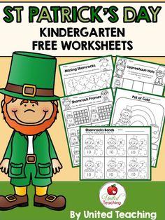 St. Patrick's Day Kindergarten FREE Worksheets