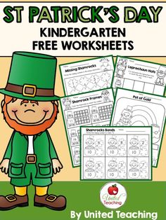 St. Patrick's Day Kindergarten FREE Worksheets