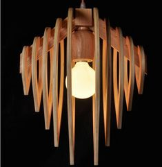 Amazing wooden pendant lamp with water drop design, not to buy, only for crafters. You get files CDR, DWG,DXF for laser cutting of plywood 4 mm (lamp Height 2
