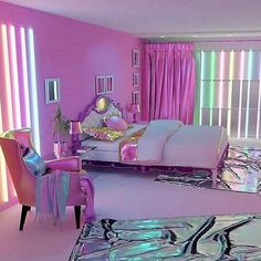Teen girl bedrooms, check this idea for one surprising magical room styling, ref number 1502533447 Cute Bedroom Ideas, Cute Room Decor, Girl Bedroom Designs, Awesome Bedrooms, Cool Rooms, Neon Bedroom, Girls Bedroom, Bedroom Decor, Hot Pink Bedrooms