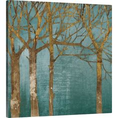 Equally at home in an artful collage or on its own as an eye-catching focal point, this lovely canvas print features a woods-inspired design.