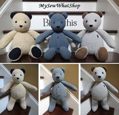 I already have all the Christmas orders I can fill. All orders placed after October 8th will not be delivered before Christmas. Thank you for your understanding! This listing is for the 18 Memory Bear / Keepsake Bear from Adult Clothes ONLY. I do make the 18 Memory Bear / Keepsake Bear from Baby Clothes also. If you are looking for those, this link will take you there:  https://www.etsy.com/listing/229806717/18-memory-bear-keepsake-bear-from-baby -For additions to your bear, see Additional…