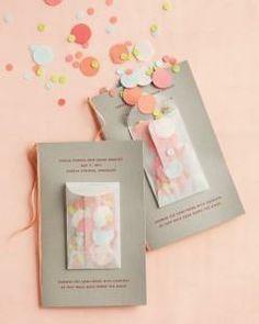 Fun confetti idea for colorful wedding   Martha Stewart