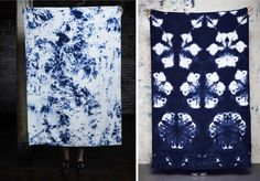 Hand-dyed raw silk sarongs from Brooklyn-based Upstate, as shown on Tomboystyle Blog.  Two more are shown in the post.