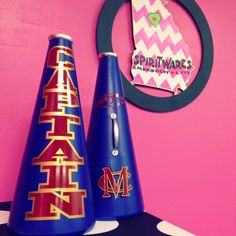 Captain Megaphones!  MC, Cheer, Cheerleading, Spiritwares, Megaphone Maven