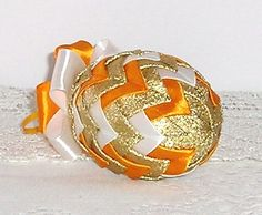 Easter ornamentt decor egg Ribbon Easter Egg Quilted by Gofen