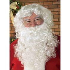 Adult Santa Claus Costume Wig & Beard, Men's, White