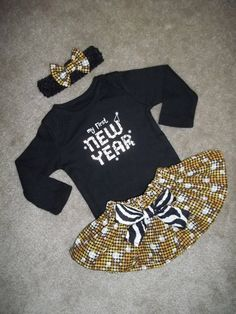 New Years Christmas Day Skirt outfit Dress baby girl 1st by MM4CC, $29.50 @Brandi Leger Baby Girl Dresses, Baby Dress, Baby Outfits, Baby Girl Fashion, Kids Fashion, Charlotte, Moda Chic, Cute Baby Clothes, My Little Girl