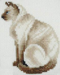 Chocolate Siamese - Cross Stitch Pattern; I wonder if I could change the seal points to silver