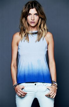 Dinner Party: Free People Ombre Tank  Jeans #Nordstrom #Holiday
