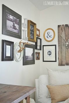 DIY corner gallery wall