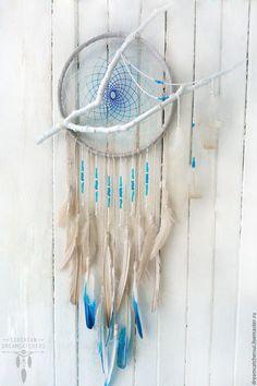 "°Gvineira (Turkey) as white as snow by Siberian DreamCatcher ~ Купить Ловец снов ""Гвинеира"" белая как снег"