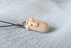Polymer Clay Schal Piggy Schlüsselanhänger von tipagraphic auf Etsy
