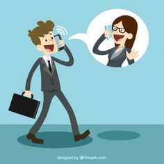 Business Communication Free Vector