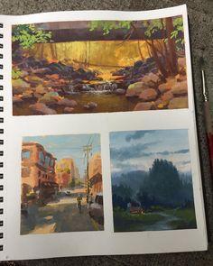 "335 Likes, 9 Comments - Jesse Winchester Schmidt (@jwinchesterart) on Instagram: ""Happy Friday folks. #sketchbook #studies #gouache #fall"""