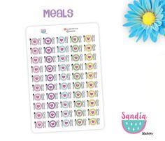 Meals doodle Planner Stickers, perfect for Planners, Erin Condren, Plum Paper, Happy Planner, Filofax, Kikki.k... de SandiaStickers en Etsy