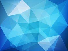 Blue Low Poly Wallpaper