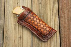 Custom Leather Knife Sheath for Buck 110 or Similar Folding