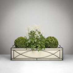New Crescent Metal Window Box from Garden Requisites, Bath, England. Pretty curves, inspired by local landmark The Royal Crescent and Bath's Georgian architecture http://www.garden-requisites.co.uk/products/window-boxes/