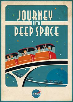 Vintage Space Poster Space Ride by artsyGalleree on Etsy, $27.00