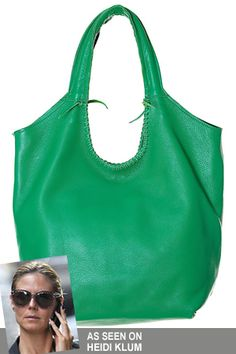 Jennifer Haley Sophisticated Large Shopper in Kelly Green