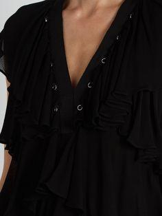 Ruffle-trimmed eyelet-embellished crepe dress   Givenchy   MATCHESFASHION.COM