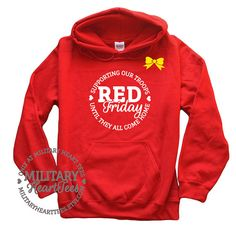 Red Friday Support Our Troops Military by MilitaryHeartTees