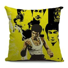 Bruce Lee Pillow Cover cushion cover home decor pillow pillows