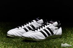 adidas Revamps a Classic with the Release of a White Copa Mundial : The adidas Copa Mundial is a boot virtually every serious player has worn over their lifetime. Adidas Soccer Shoes, Adidas Boots, Soccer Boots, Football Boots, Soccer Cleats, Adidas Sneakers, Football Soccer, Michel Platini, Baskets