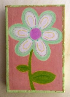 Key Lime Junior Petal Art on Wood