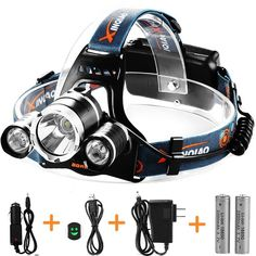 TOTOBAY Waterproof 4 Modes 3 LED Beams Headlamp -- Visit the image link more details. (This is an affiliate link and I receive a commission for the sales)