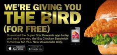 Carl's Jr. & Hardee's: FREE Big Chicken Sandwich (Mobile Users)
