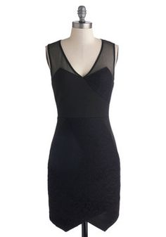 Mixed Media Savvy Dress.  Simple, sophisticated, and modestly sexy....you'll stop him dead in his tracks in this little black dress ;)