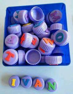 100 handicraft ideas from bottle caps on their own - Светлана Татаринович - Hotel Alphabet Activities, Writing Activities, Classroom Activities, Preschool Activities, Feelings Preschool, Childhood Education, Kids Education, Diy For Kids, Crafts For Kids