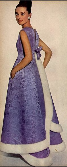 1964 Audrey Hepburn wearing Givenchy, photo by Irving Penn for Vogue
