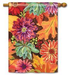 """Georgia Peach Bird Flower Butterfly House Flag Large 40/"""" x 28/"""""""
