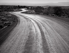 winding road sunset