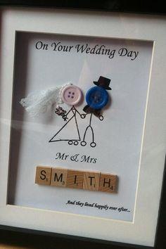 Wedding presents -knopffiguren für die leinwand
